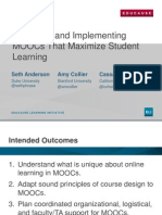 Designing and Implementing MOOCs That Maximize Student Learning (166239192)