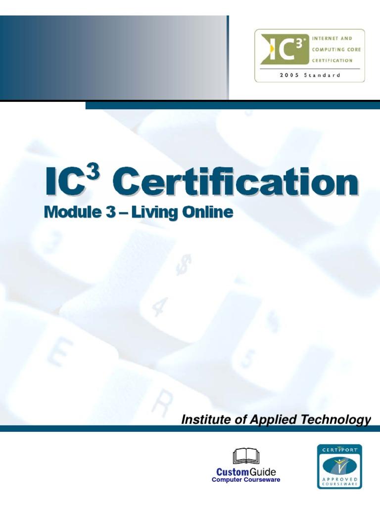 ic3 module 3 complete v2 modem computer network rh scribd com IC3 Digital Literacy Certification IC3 Book