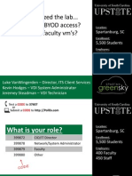 We Virtualized the Lab, Now What? BYOD Access? Persistent Faculty VMs? (166239720)