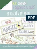 """Pack descargable """"Decora y organiza tu aula"""" para Educación Infantil"""