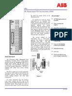 ABB ICSTT-SDS-8801 - En Plantguard 40 Channel 24 VDC Digital Input FTA Non-Incendive P8801