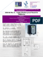 DS0156 Rev a - Vodec Weatherproof ResistTel Telephone