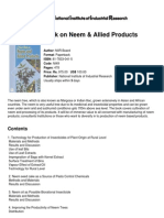 Hand Book on Neem &Amp; Allied Products