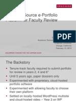 An Open-Source E-Portfolio Platform for Faculty Review (166247952)