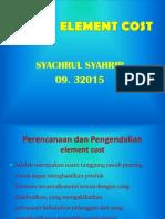 ELEMENT COST Precentated