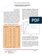 Discrete Particle Size Distribution May 2011