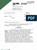 Bernie Madoff Complaint
