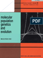 Molecular Population Genetics and Evolution - Masatoshi Nei