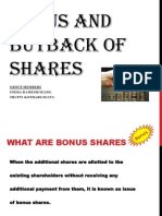 Bonus and Buyback of Shares Pp 2