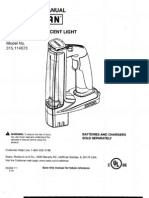 Craftsman C3 Flourescent Worklight