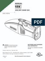 Craftsman C3 Hand Vac