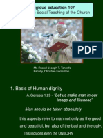 Rel Ed Yr 4 -Lesson 4 Intro to Human Dignity
