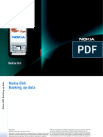 Nokia E65 Backing Up Data En