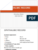 Opthalmic Record Ppt