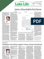 Lining up the history of baseball at Port Byron, NY
