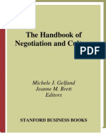 Handbook of Negotiation and Culture