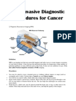 Non-Invasive Procedure for Cancer