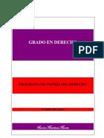 PROGRAMA Teoria del d. español