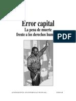Error Capital - La Pena de Muerte Frente a Los Ddhh