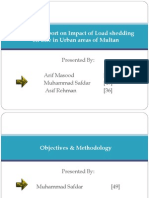 Survey on Impact of Load shedding on Life in Urban areas of Multan [pps]