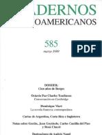 Cuadernos Hispanoamericanos 585 (Marzo 1999)