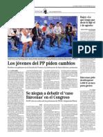 Los jóvenes del PP piden cambios