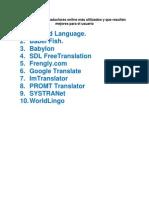 Lista de los 10 traductores online más utilizados y que resultan mejores para el usuario.pdf