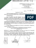 Reglamento Del Centro de Lenguas - Unsa
