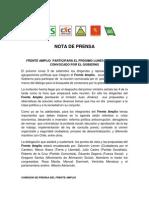 Frente Amplio participará en el dialogo convocado por el gobierno
