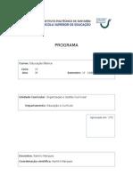 Capa e Programa Organizacao e Gestao Curricular
