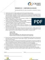 Compromisos Emprendefe 2011 - Segmento Hijos de Microempresarios