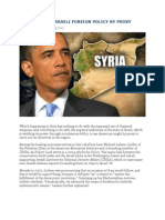 Op/Ed- Syria - Israeli Foreign Policy by Proxy