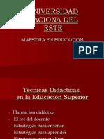 Técnicas didácticas en la Educación Superior