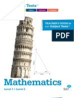 Teachersguide to the Sat Subject Tests in Math
