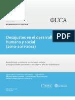 Barómetro de la Deuda Social Argentina ODSA-UCA (2010, 2011, 2012)