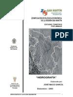 Hidrografia de La Region San Martin