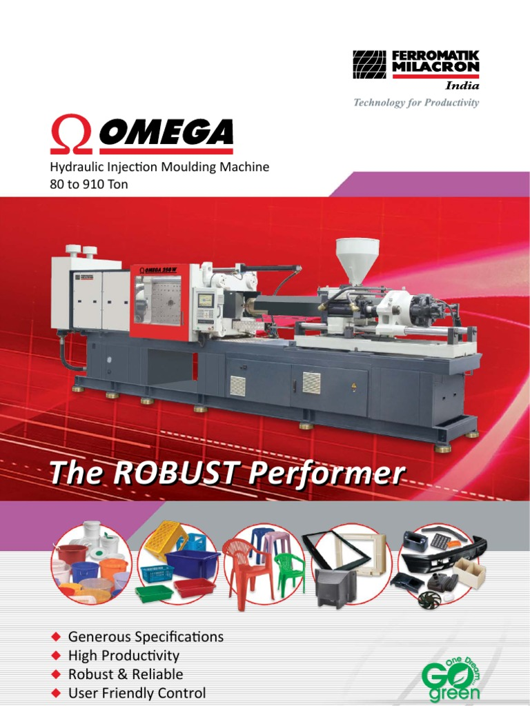 Omega Injection Moulding Machine | Electric Motor | Screw