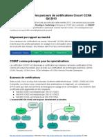 Changement dans les parcours de certifications Cisco® CCNA Q4-2013