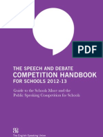 Speech and Debate Handbook 2012 13