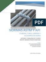 NORMAS ASTM DE APLICACIÓN DE TUBERIAS Y ACCESORIOS