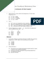 Instruments Feedback Worksheet 1