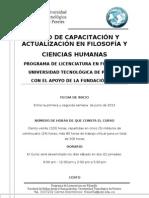 CURSO CAPACITACIÓN EN FILOSOFÍA-2013