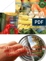 Contaminación de Conservas y otros alimentos enlatados