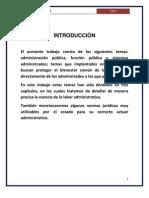 Trabajo de Administracion, Funcion y Sitemas Administrativos Publicos