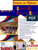 Poster Basketball Camp in Spain 2009