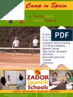 Tennis Summer Camp in Spain Poster