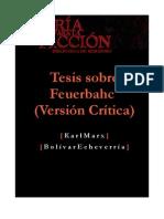 Marx - Tesis Sobre Feuerbach