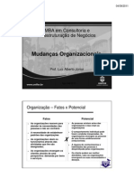 Slides Mudancas Organizacionais UNIFOR