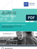 Self-Regulated Learning a Literature Review