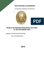 Modelo de Gestion Estrategica Aplicado Al Sector Inmobiliario